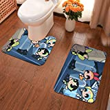 Lindsay Gosse Juego de alfombras de baño de 2 Piezas Chicas Superpoderosas Alfombras De Baño, Juegos De Contorno para Bañera, Ducha Y Baño