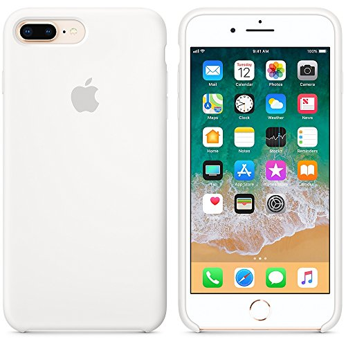 Funda para iPhone 7Plus/8Plus Carcasa Silicona Suave Colores del Caramelo con Superfino Pelusa Forro,Anti-rasguños Teléfono Caso para Apple iPhone 7P/8P (iPhone 7Plus/8Plus, Blanco)