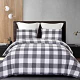 Cozyholy Luxury Modern Duvet Cover Set Tropical Design Vintage Classic Plaid Grid Striped
