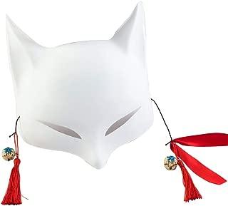 white kitsune mask