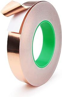 Foraco Kopertape, koperfolie tape met dubbel geleidende lijm, sterk hechtende koperen plaat EMI-afschermingstape voor slak...