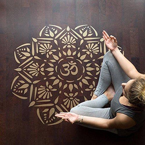 craftstar Om Mandala plantilla para estarcir–reutilizable plantilla de Yoga diseño de medallón, Extra Large