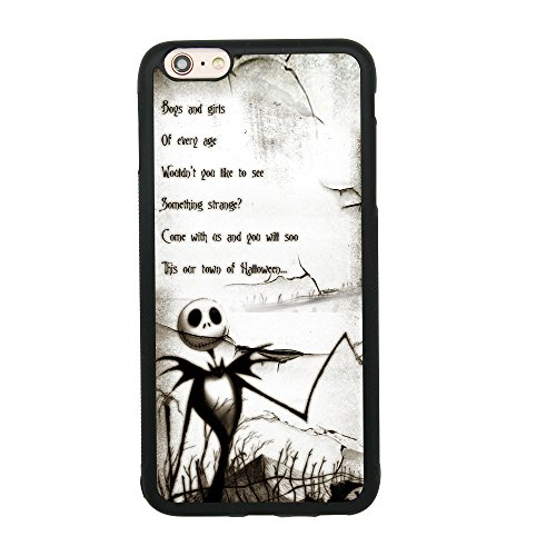 The Nightmare Before Christmas Quote Case for iPhone 6 Plus/6S Plus (5.5 Inch) Comic TPU Silicone Gel Edge + PC Bumper Case Skin Protective Printed Phone Full Protection Cover