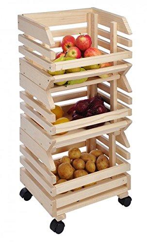 Gravidus Obsthorde aus Holz 3-teilig