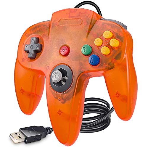 LUXMO PREMIUM USB N64 Controller Classic PC Gamepad Joystick Controller for Windows PC Mac Linux Raspberry pi3 Genesis Higan Retro Pie