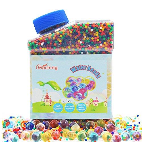 40,000 pcs Wasserperlen Riesige Jelly Wasser Perlen Regenbogen Farbige Mischung für Hochzeit und Wohndekoration, Pflanzen Vase Füller