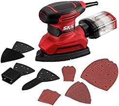SKIL Corded Multi-Function Detail Sander, Includes 12Pcs Sanding Paper, 3pcs Additional Detail Attachment, Dust Box - SR2323-00