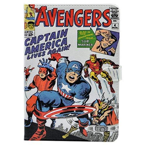 TPACC Case for iPad Mini 4, Cartoon Comic Superhero Alliance Leather Flip Case Kickstand Shockproof Protective Cover for iPad Mini 4 4th