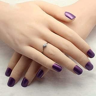 CoolNail Noble Dark Purple Acrylic Fake Nails Candy Color Lady False Nail Nails Of Finger Press On Nail 24pcs