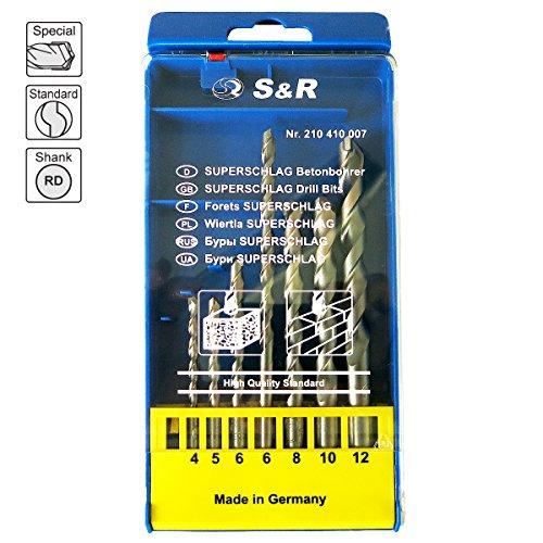 S&R Betonbohrer Set (7-tlg.) - 8