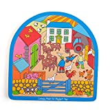 Bigjigs Toys Bogenförmiges Bauernhof-Puzzle
