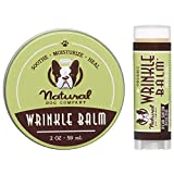 Natural Dog Company Wrinkle Balm Bundle, Includes 2oz Tin + 0.15oz Stick, Cleans and Protects Dog Wrinkles and Skin Folds, Perfect for Bulldogs, All Natural, Organic Ingredients, Packaging May Vary
