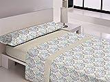 Libela MORAIRA Juego de sábanas, Polialgodón, Beig, Cama 135 cm