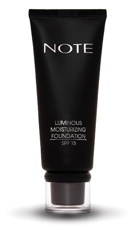 見える印をつける不忠NOTE Cosmetics ルミナスモイスチャライジングファンデーション、 第02