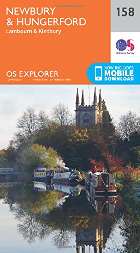OS Explorer Map (158) Newbury and Hungerford