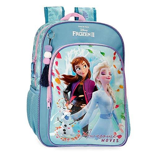 Disney Frozen Die Eiskönigin Awesome Moves Rucksack Blau 30x40x13 cms Mikrofaser und PVC. 15.36L