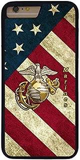 FIDIKO US Flag USMC Marine Corps Previous Cases Compatible iPhone 7 Plus, Cool Hard Plastic Slim   Snap On Hard Back Compatible iPhone 7 Plus / 8 Plus