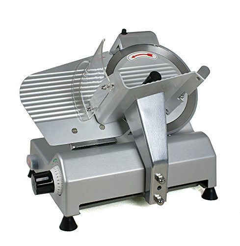 "Pro 10"" Blade Electric Meat Slicer 240w 530RPM with Dual Baffle Plates"
