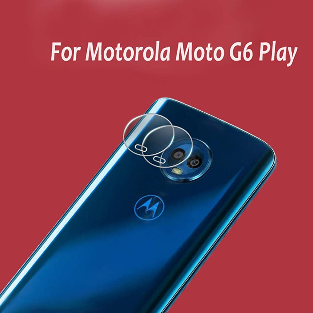 2 Pieces High Definition Ultra Thin Transparent Clear Camera Protector Lens Tempered Glass for Motorola Moto G6 Play Glass Lens Cover