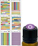 doTERRA Essential Oils Labels and Lid Stickers for Rollerballs Bottles and Organizing Oils. 528 Waterproof Cap Stickers Including 2019 Oil Singles and Blends By Got Oil Supplies