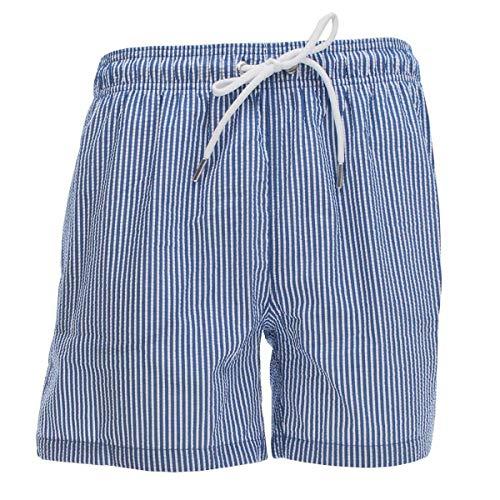 GANT Herren Badeshorts Badehose Seersucker Swim Shorts, Größe:M, Farbe:Blau(422)