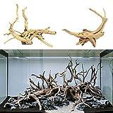 TBoxBo 2 piezas de acuario árbol natural tronco madera madera natural tronco madera deriva árbol tanque de peces planta decoración de madera ornamento