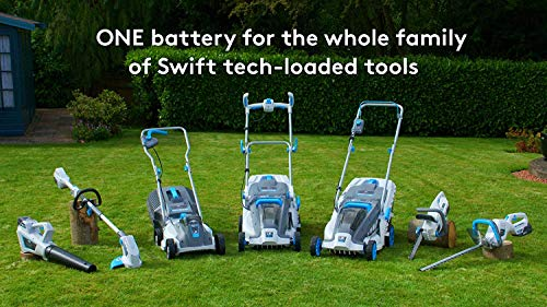 SWIFT 40V EB137C2 Cordless Lawnmower Digital Wide Deluxe Handle Lawn Mower Cutting Width 37cm (include Battery & Charger)