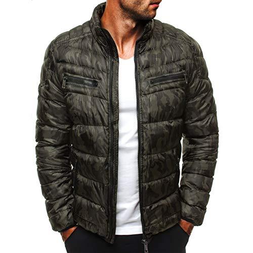 Camuflaje oscuro patrón fresco chaqueta gruesa de los hombres
