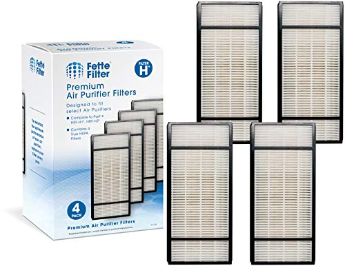Fette Filter Pack of 4 Replacement Air Purifiers   Compatible with Honeywell HEPA Filter H, HRF-H1 HRF-H2   Removes At Least 99.97% of Dust, Microbes and Pet Danger.