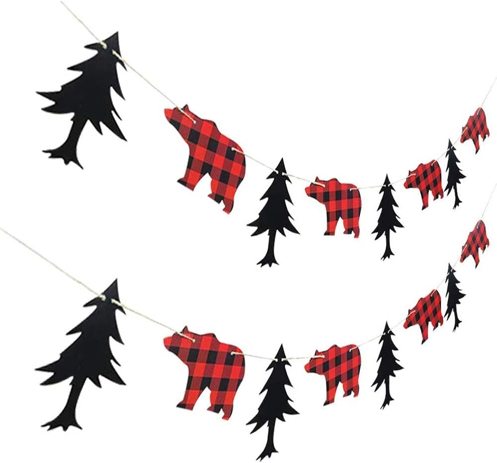 Lumberjack Max 84% OFF Theme 2021 Banner Garland Party for Birthday Kid Supplies