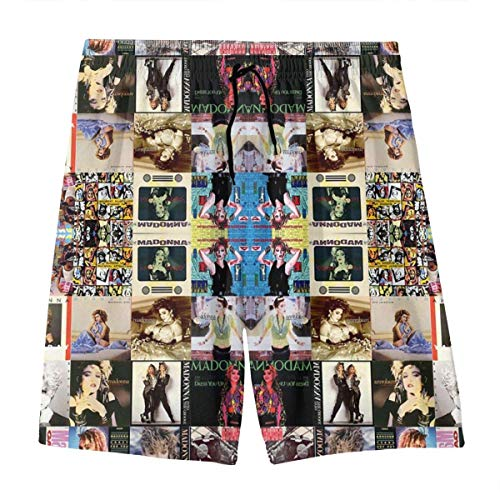 GTGTH Jungen Beachwear Strandshorts Hosen, Madonna Collage Boardshorts für 7-20 Teenager