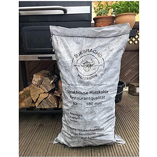 Darlux 15 kg Quebracho-Blanco Premium Holzkohle Grillkohle 60-180 mm ** Hauslieferant von Steffen Zuber Estancia Beef Club ** Steakhaus Qualität ** 1,87/1 Kg