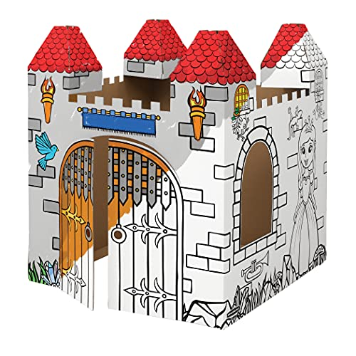 Bankers Box at Play Castle Playhouse, Cardboard Playhouse and Craft Activity for Kids