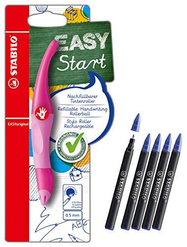 Ergonomischer Tintenroller für Rechtshänder - STABILO EASYoriginal (Hellpink/Dunkelpink + extra Patronen)