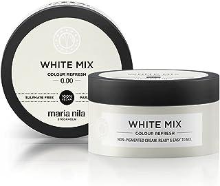 Maria Nila Colour Refresh White Mix 100 ml - En Vårdande Färgbomb som Innehåller Tillfälliga Färgpigment som Snabbt Fräsch...