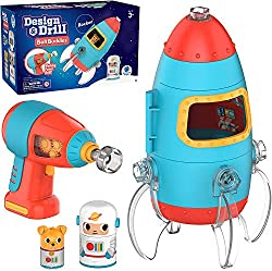 Best Space Toys for Toddlers Review - Educational Insights Design & Drill Bolt Buddies Rocket