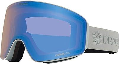 Dragon Alliance Mens PXV Snow Goggles, Salt/Lumalens Flash Blue, Lumalens Dark Smoke, OFA