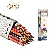 US Sense 鉛筆色鉛筆水溶性色鉛筆36色 いろえんぴつ 塗り絵用鉛筆セット スケッチ用 アート 水彩色鉛筆