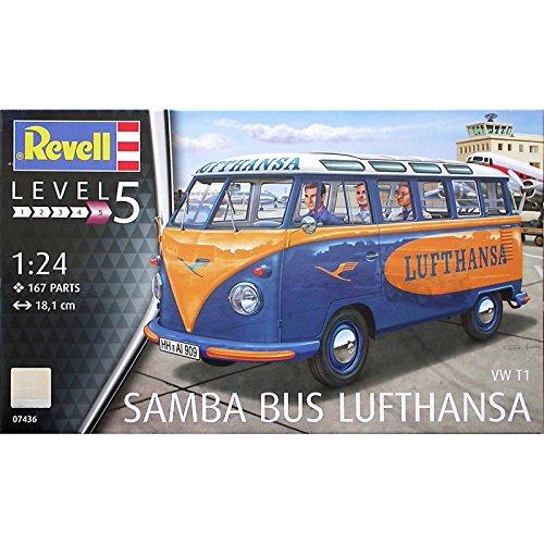 Revell 07436Bausatz VW T1Samba Bus Lufthansa, 18,1cm