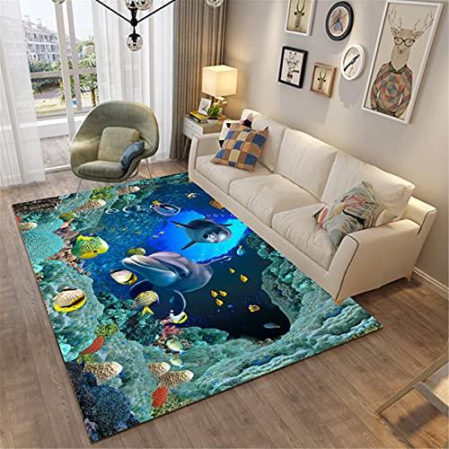 Hogar Sala De Estar Moda Simple Estilo Moderno Rectangular Alfombra Grande Dormitorio Manta De Noche Agradable para La Piel 150x100cm