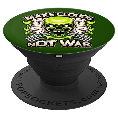 powerful Vaping Green Skull Steaming Hot Vape Mod PopSockets Grip and Stand for Phone…