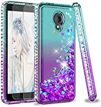 Alcatel TCL LX Case (A502DL), Alcatel 1X Evolve Case with Tempered Glass Screen Protector [2 Pack] for Girls Women, LeYi G...