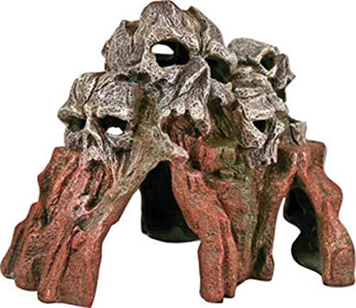 Resin Ornament - Skull Mountain Med Brown
