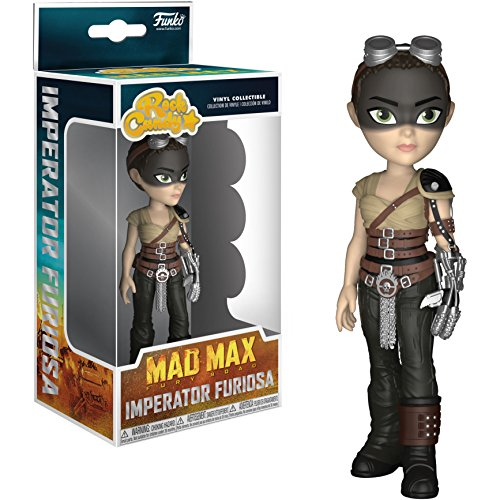 Funko Imperator Furiosa Rock Candy x Mad Max: Fury Road Vinyl Figure + 1 Classic Movie Trading Card Bundle