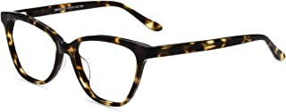Firmoo Blue Light Blocking Glasses Vintage Cat Eye Computer Reading Eyeglasses with Magnification