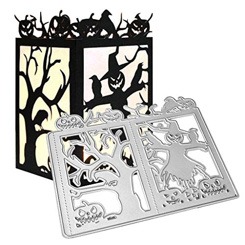 Lisanl - Fustelle in metallo a forma di zucca di Halloween, per fai da te, scrapbooking, album, biglietti, goffratura