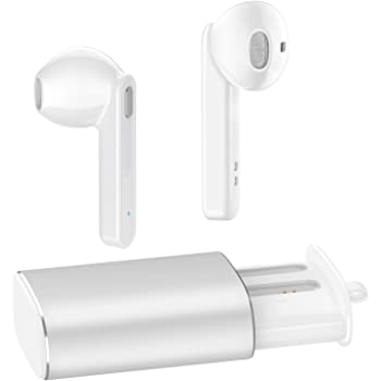 Wireless Earbuds, Bluetooth 5.0 Headphones AUGYMER Bluetooth Earphones Auto Pairing True TWS Stereo HiFi Headphones for Running Sports in-Ear with Fast Charge Charging Case Built in Mic Headset White