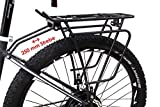 Fahrrad Alu Gepäckträger 26-29 Zoll Universal verstellbar Federklappe schwarz 250mm Strebe