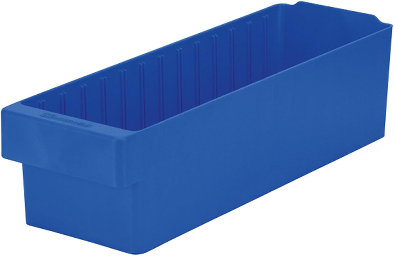Akro-Mils 31168 AkroDrawer Plastic Storage Drawer, 17-5 8  L x 5-9 16  W x 4-5 8  H, bluee, Case of 6