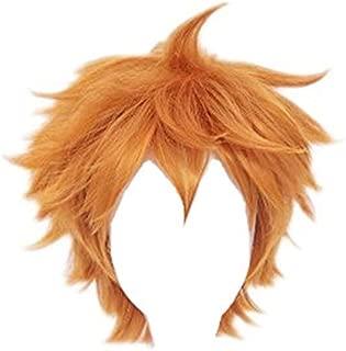 Kadiya Short Orange Anime Cosplay Wig Fashion Synthetic Hair for Boy